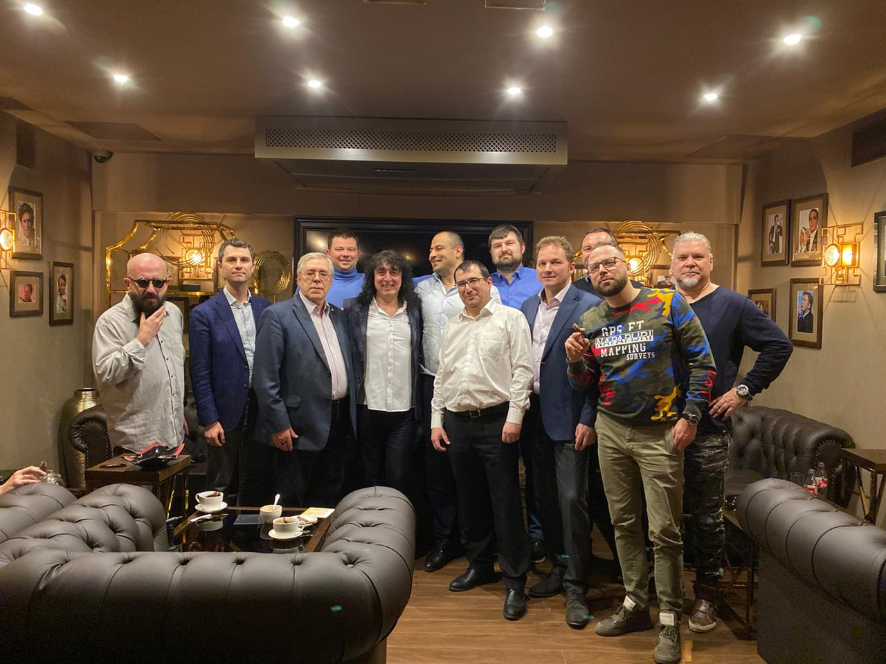 мы провели творческий вечер Андрея Алексина в Московском Сигарном Клубе